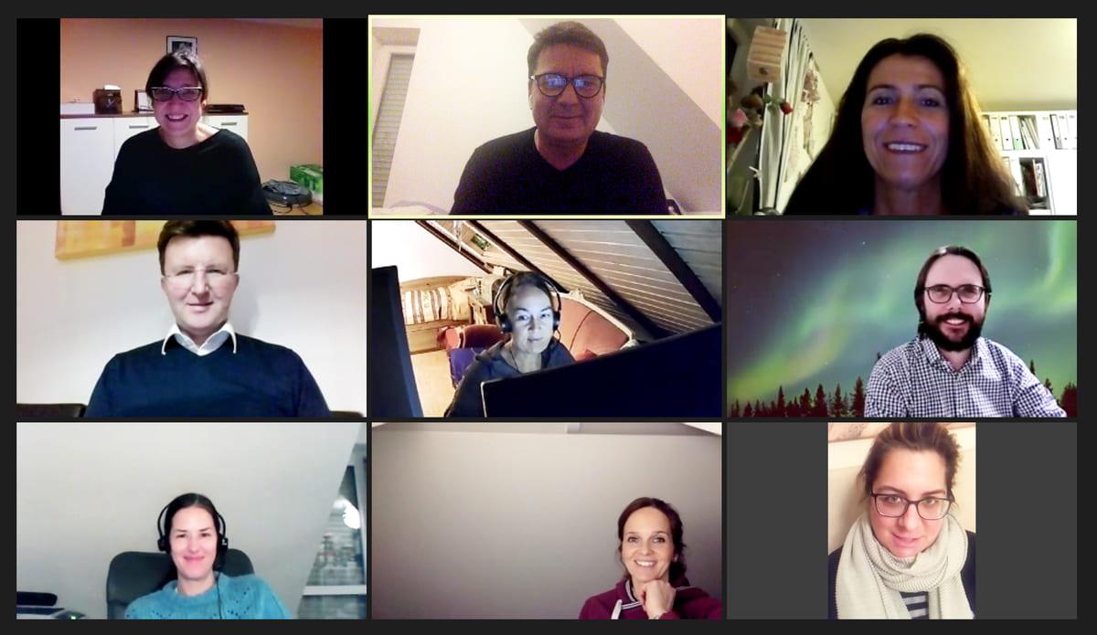 Unser EBR Team im Zoom Meeting